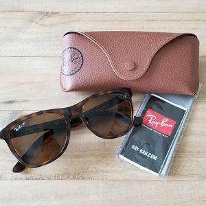 Ray Ban RB4184 Polarized Tortoise Brown Sunglasses